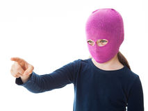 Девушка гангстера давая направление Стоковое фото RF