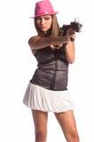 девушка гангстера сексуальная Стоковые Фотографии RF