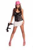 девушка гангстера сексуальная Стоковое Фото