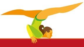 Девушка гимнаста a молодая грациозно гимнаст который выполняет exercis бесплатная иллюстрация