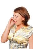 девушка говорит Стоковое Фото