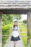 Девушка горничной японского стиля милая Стоковые Фотографии RF