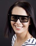 Девушка готовая для того чтобы наблюдать 3d Стоковое Фото