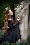 девушка готская стоковая фотография