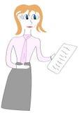 девушка дает бумагу списка иллюстрации Стоковое фото RF