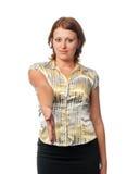 девушка дает shake руки Стоковые Фотографии RF