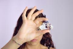 девушка диаманта Стоковые Фотографии RF