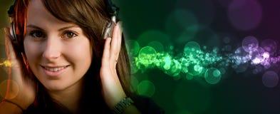 девушка диско диск-жокея Стоковое Изображение RF