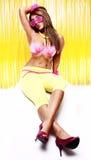 девушка диско Стоковое Фото
