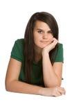 девушка довольно предназначенная для подростков стоковое фото