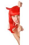 девушка дьявола Стоковая Фотография