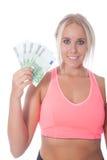 Девушка евро 500 Стоковое Фото