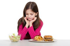 девушка еды немногая Стоковые Изображения RF