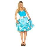 девушка ее юбка вытягиванная pinup вверх Стоковое Изображение