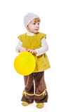 Девушка держа воздушный шар стоковые фото