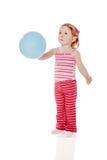 Девушка держа воздушный шар стоковая фотография rf
