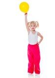 Девушка держа воздушный шар стоковое фото rf