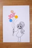 Девушка держа balllon Стоковые Фото
