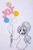 Девушка держа balllon Стоковая Фотография RF