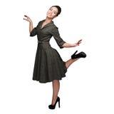 Девушка жизнерадостных танцев ретро Стоковая Фотография RF