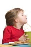 девушка завтрака Стоковое Изображение