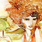 девушка задумчивая бесплатная иллюстрация