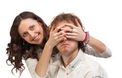 Руки глаз закрытые Стоковые Изображения RF