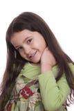 девушка застенчивая Стоковое Изображение