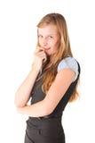 девушка застенчивая стоковое изображение rf