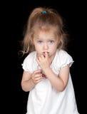 девушка застенчивая Стоковая Фотография