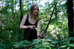 Девушка звероловства Elven Стоковые Фотографии RF