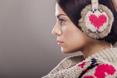 Девушка зимы Стоковые Фотографии RF