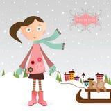 Девушка зимы Стоковое Изображение RF
