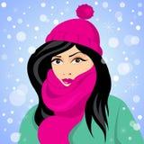 Девушка зимы Стоковые Фото