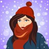 Девушка зимы Стоковое фото RF