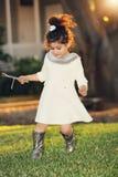 Девушка золотого зарева Стоковое Изображение RF