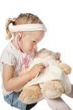 Девушка играет доктора Стоковые Фотографии RF