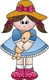 девушка играя игрушечный Стоковые Изображения