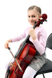 девушка играя violoncello Стоковые Изображения RF