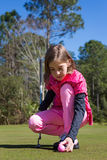 Девушка игрока в гольф Стоковые Изображения RF