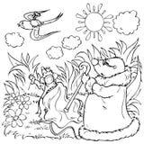 девушка избежания немногая ласточка Иллюстрация штока