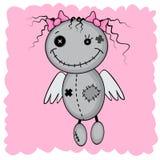 Девушка изверга с крылами иллюстрация штока