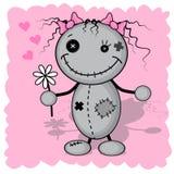 Девушка изверга с цветком бесплатная иллюстрация