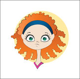 Девушка имбиря фитнеса бесплатная иллюстрация