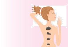 девушка имея массаж Стоковые Изображения RF