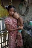 девушка Индия подростков сельская стоковые изображения rf
