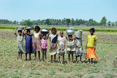 девушка Индия сельская Стоковое Фото