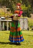 Девушка исполнительницы танца живота Стоковое Изображение