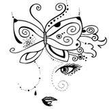 Девушка и бабочка Стоковая Фотография
