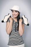 Девушка и ботинки Стоковые Фото